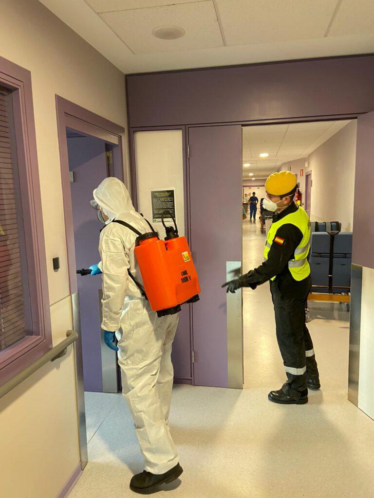 A UME desinfectou o Centro