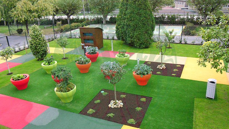 Centro de Día La Milagrosa. Vista aérea xardín