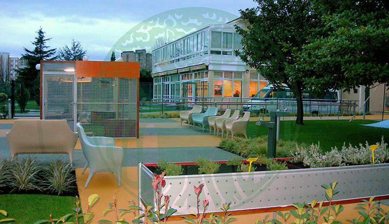 Residencia La Milagrosa. Jardín gerontológico